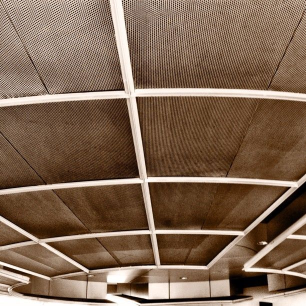 The underside of the sky bridge at the San Diego International Airport.