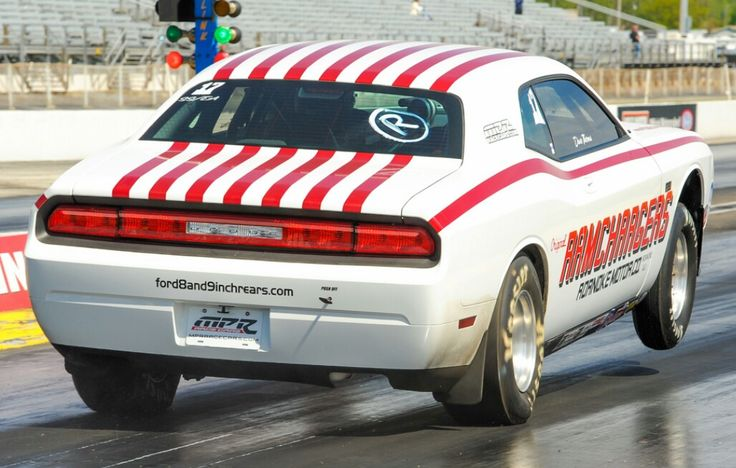 New Dodge Challenger Drag Car RAMCHARGERS  Hanging out the front tires