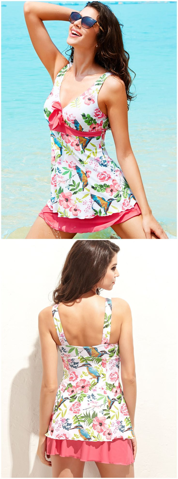 This beautiful conjoined swim skirt is perfect to wear by the pool, on the beach or to catch some sunshine. Show off your cleavage with this push up halter top swimsuits, enjoy your summer holidays from now on. It's also an excellent and special gift for your loved ones. http://www.amazon.co.uk/gp/product/B00K8RGDCY