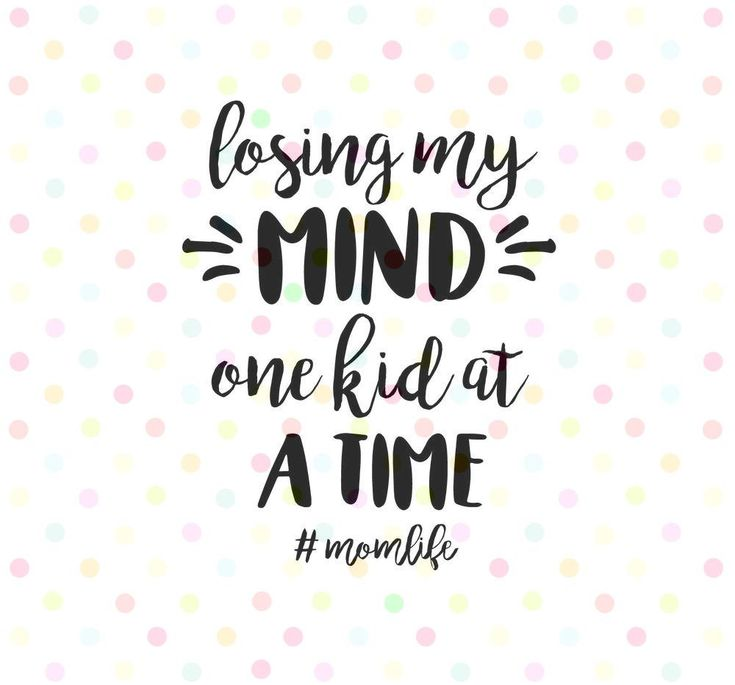 Losing my mind one kid at a time SVG, PNG, Instant ...