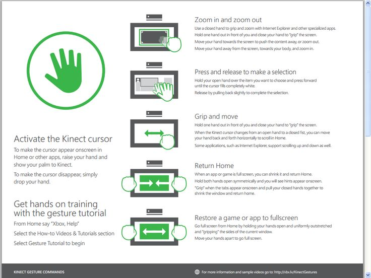 Learn the voice and gesture commands for the new #kinect #xboxone http://mageca.com/news/2013/xbox-one-kinect-voice-and-gesture-commands/