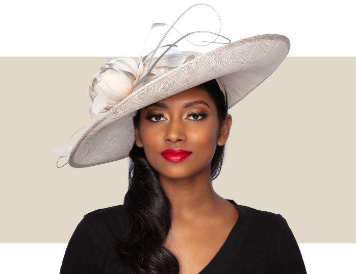 Amara Fascinator Hat Champagne And Silver Lurex Kentucky Derby Style Fascinator Hat Kentucky Derby Hats