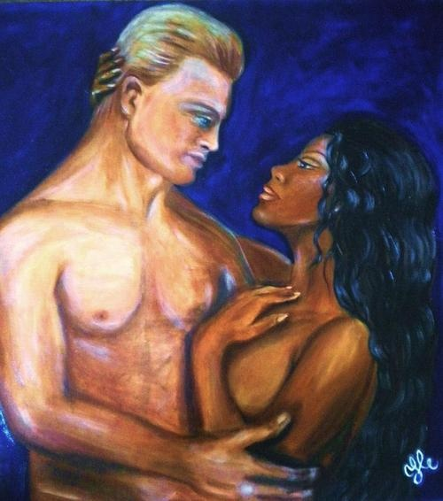 Art couple interracial something is