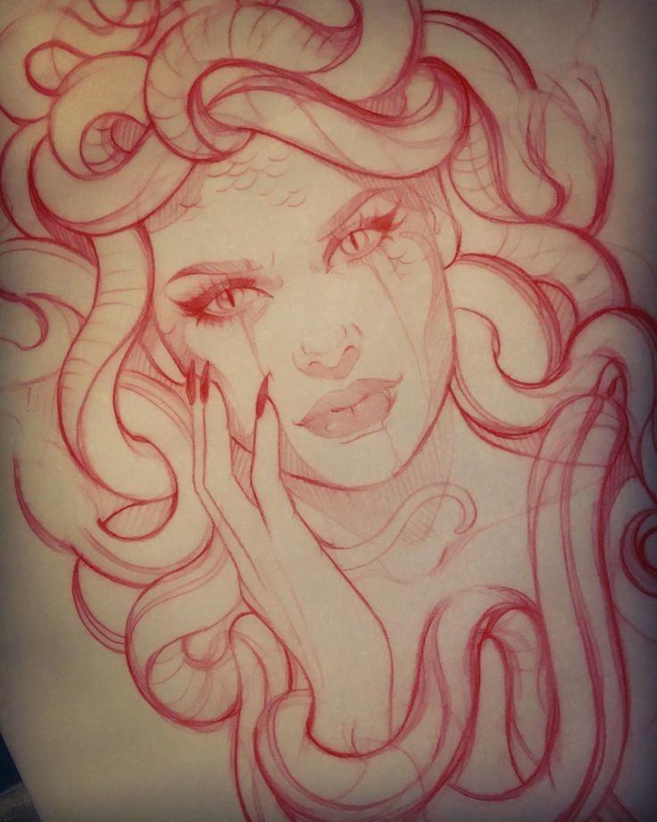 Croquis de la méduse  #croquis #meduse