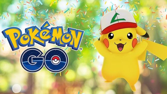 'Pokémon Go' celebrates its first birthday by giving Pikachu a hat  Pokémon Go is celebrating its first birthday this month with discounts on items and something for fans of the original Pokémon TV show: Pikachu donning Ash's hat.  SEE ALSO: 'Pokémon Go' is branding Pokémon caught by cheaters  Starting today and running through July 24 Pikachus found in the wild will be wearing Ash's hat from the first season of the Pokémon anime. Pikachu was the very first Pokémon that the show's…