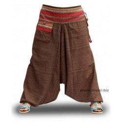 Pantalones cagados, moda étnica, modelo 2