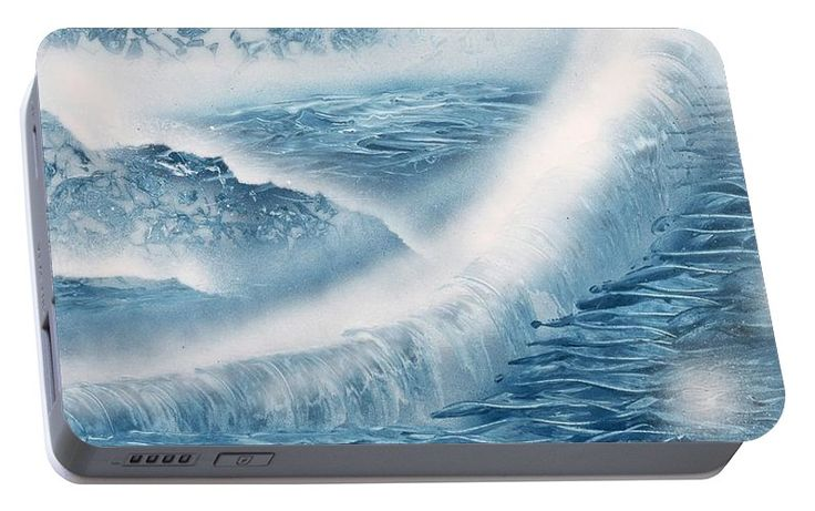 Waterfall From Heaven Portable Battery Charger Printed with Fine Art spray painting image Waterfall From Heaven by Nandor Molnar (When you visit the Shop, change the orientation, background color and image size as you wish)