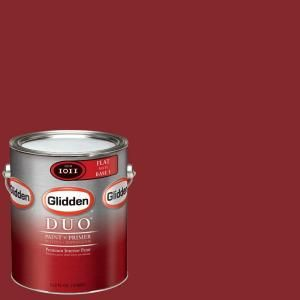 Glidden Team Colors 1-gal. #NFL-181A NFL San Francisco 49ers Red Flat Interior Paint and Primer-NFL-181A-F 01 at The Home Depot