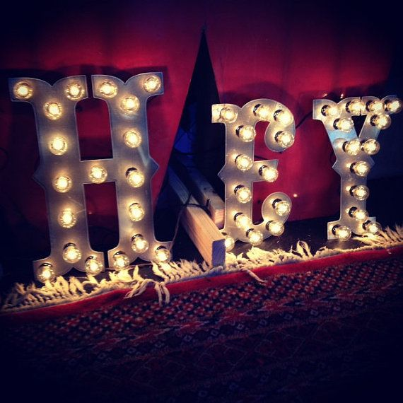 Circus Marquee Metal Light Letters by WestVintageTradingCo on Etsy, $95.00