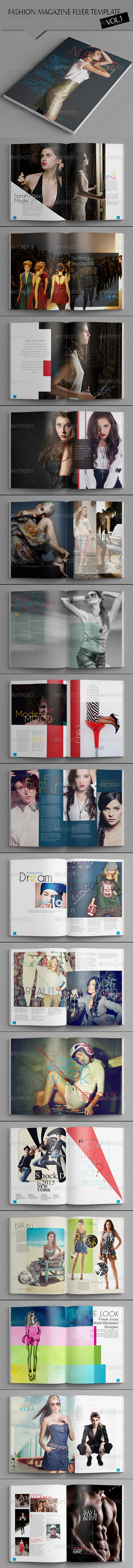 Indesign Fashion Magazine Template #fashion #magazine