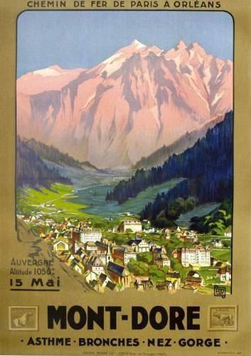 """chemins de fer de paris à orléans - PUY DE DOME - Mont-Dore - illustration de Charles Hallo dit Alo"""" - France -"""
