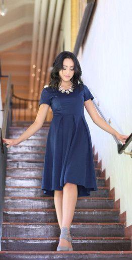 Gorgeous Gracie Dress from Modest Pop clothing!  Modest dress, women's fashion, navy dress,  teacher dress,