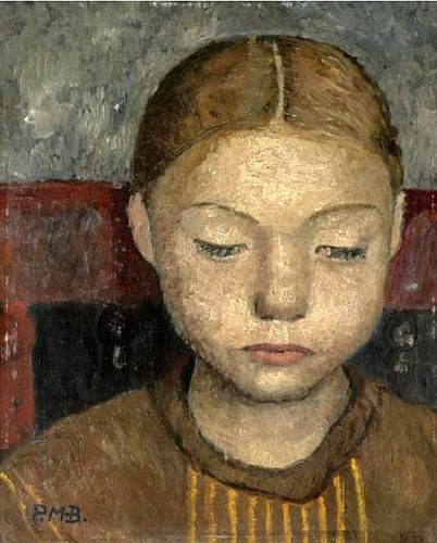 Modersohn-Becker (1876-1907) - 1905c. HEAD OF A GIRL SITTING ON A CHAIR (Sotheby's London, 2007) (by RasMarley)