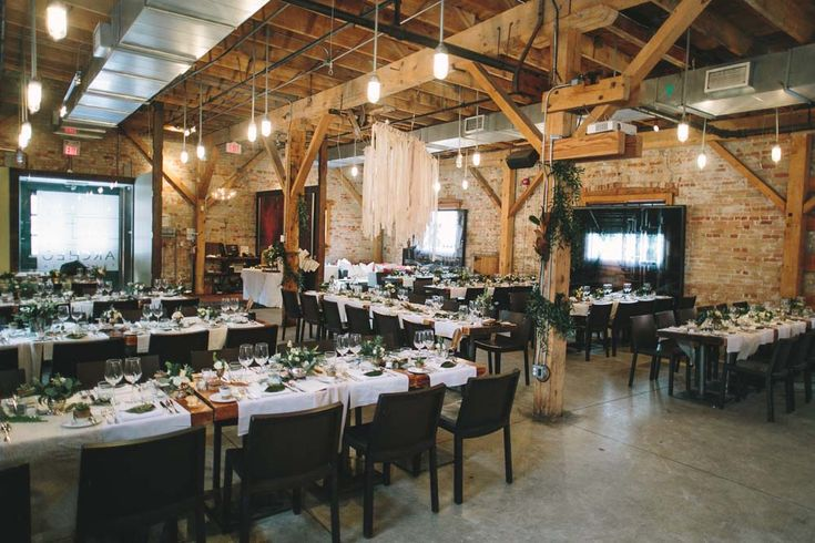 Archeo in Toronto decked out for a romantic winter wedding.