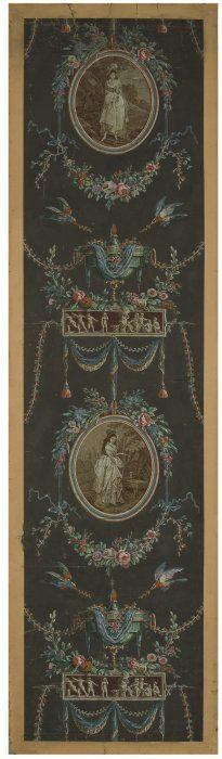 Papier peint en arabesque    Vers 1795  Acquis grâce aux Amis des Arts Décoratifs  Inv. 2008.10.1