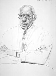 David Hockney - Dr. Leon Banks, 1994 - Crayon