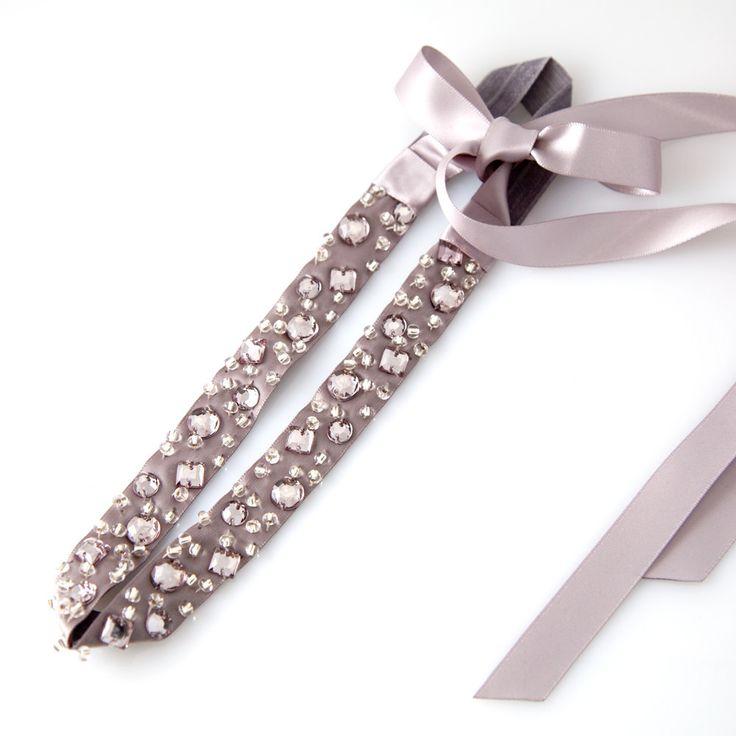 Pretty in Pink Crystal Head Wrap