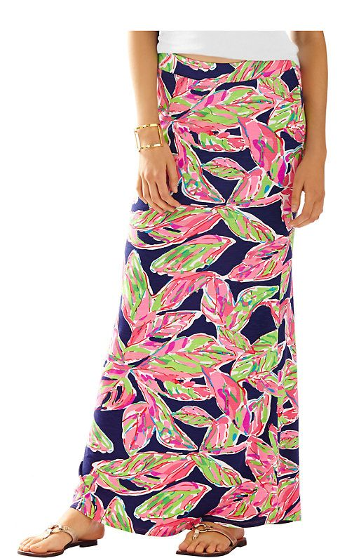 The Marnie maxi column skirt is a fun printed maxi perfect for traveling in an air conditioned plane. You'll be ready for vacation in your stretchy maxi skirt and still be comfortable for your travels.