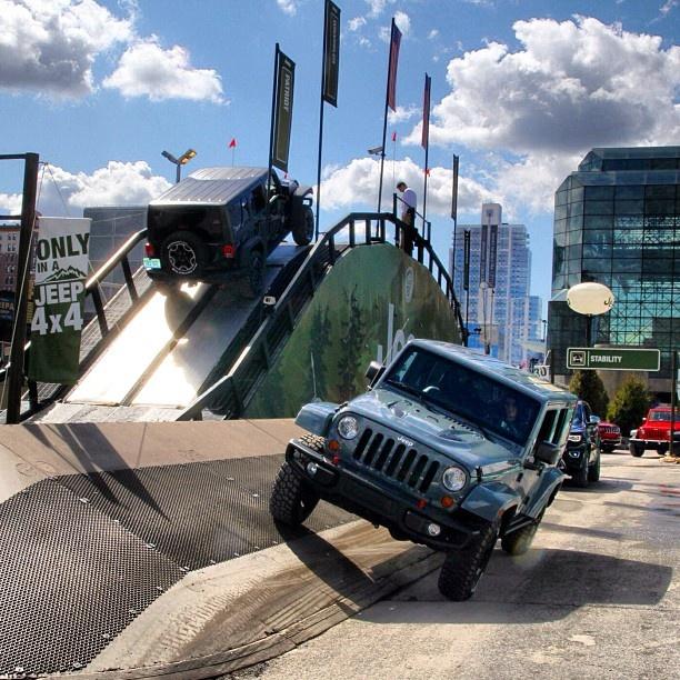 Jeep Wrangler Rubicons via Instagram @Adweek #NYIAS