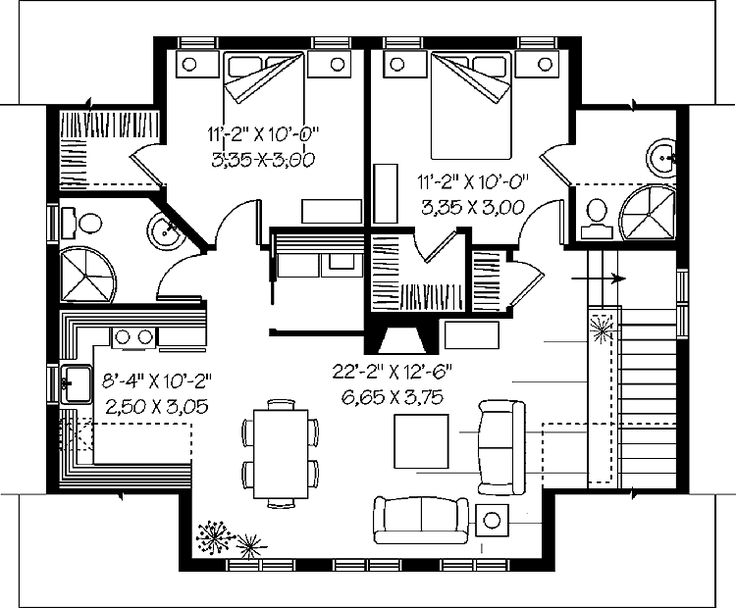 Best 25 garage apartment plans ideas on pinterest for Architectural designs for 3 bedroom flat