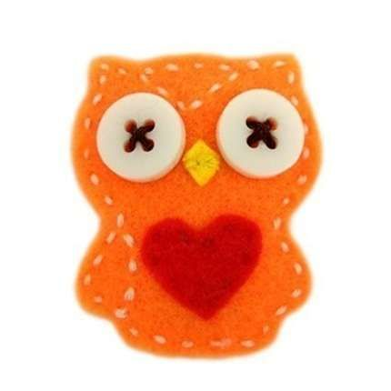 owl: Felt Hairclip, Hairclip Orange, Felt Owls, Orange Owl, Felt Hair Clips, Owl Felt