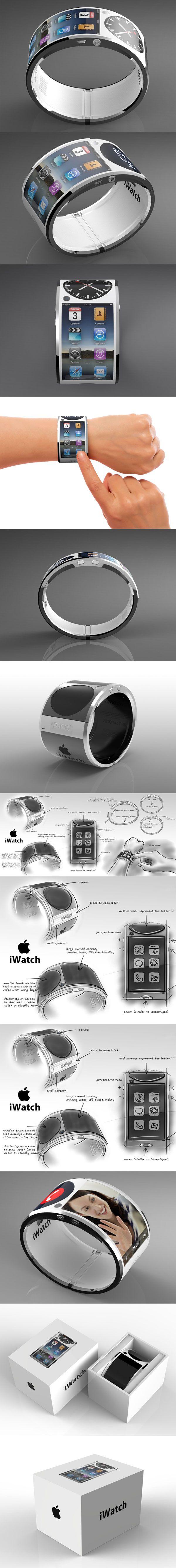 Een andere versie van de apple watch is de iwatch. Deze lijkt niet zo gebruiksvriendelijk vanwege het scherm dat 180 gebogen is waardoor je steeds je pols moet bewegen als je van klok naar apps gaat bijvoorbeeld.