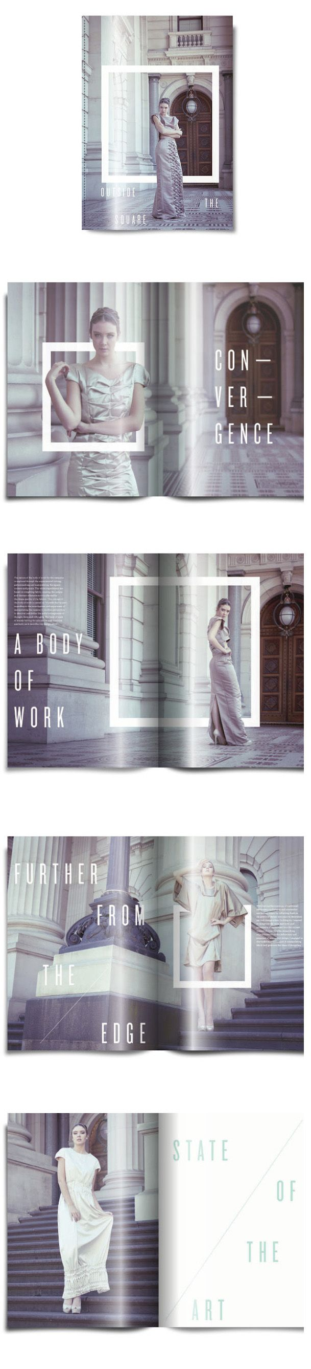 Fashion Look Book I Am Drawn To The Use Of Square Capture Attention And