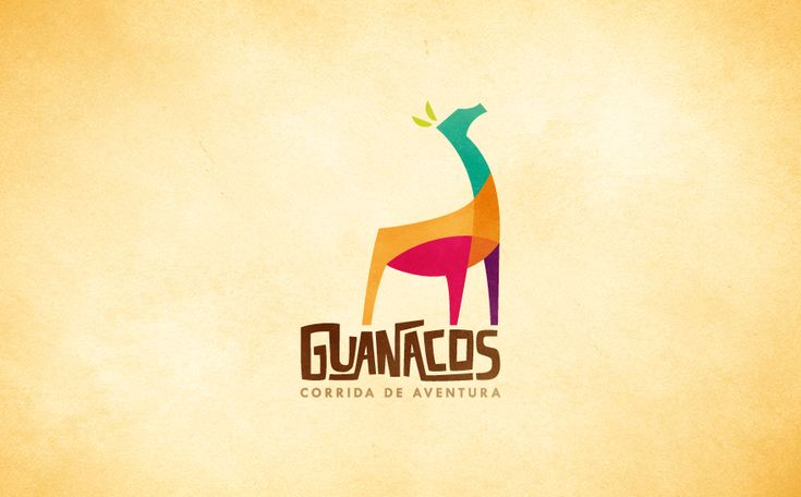 Logo created for the brazilian adventure group Guanacos. The diversity of colours represents all the challenges they find in their way. The young guanaco is looking up to the sky just like he's looking for some adrenaline! http://www.henriquepl.com.br/