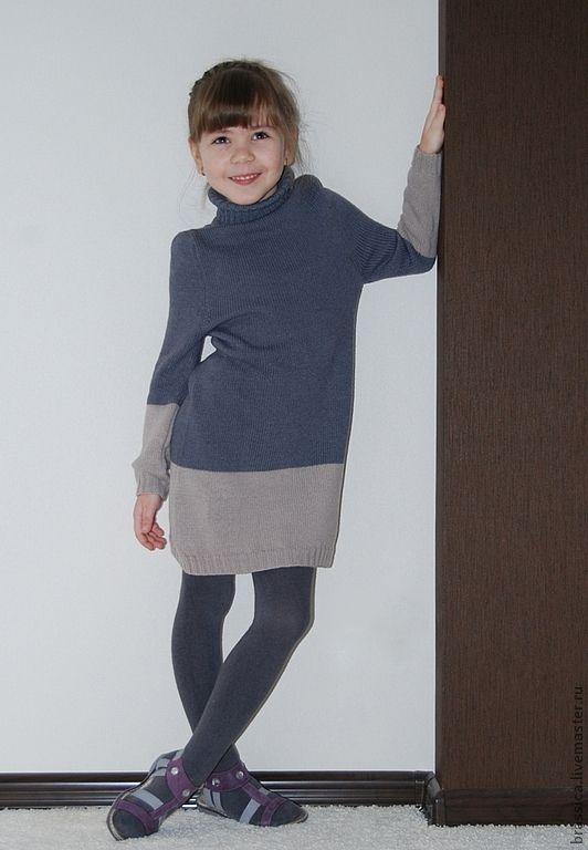 Купить Платье вязаное детское Латте - платье, вязаное платье, детское платье, платье для девочки