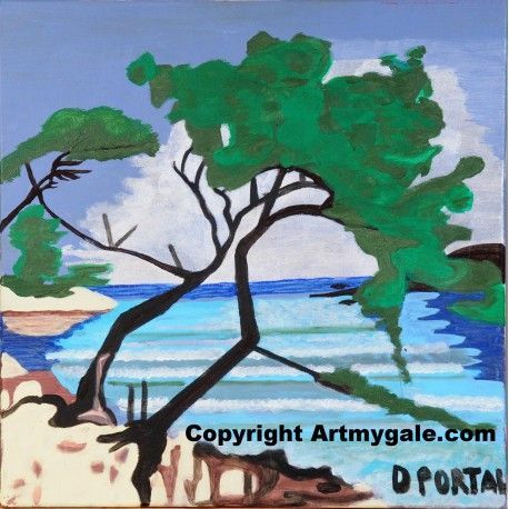 La Cote d'Azur - Reproduction - 30,00 €  #Art #Artiste