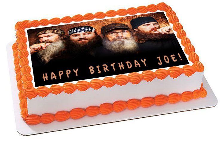 Duck Dynasty Edible Birthday Cake Topper
