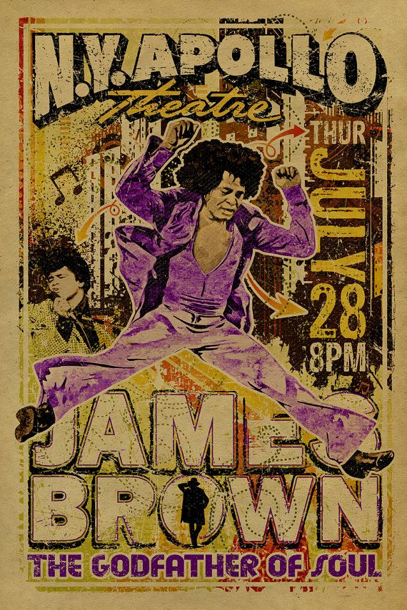 12x18 on 65# cover weight kraft paper    A tribute the godfather of soul, James Brown. He is one of the founding fathers of funk music and a major