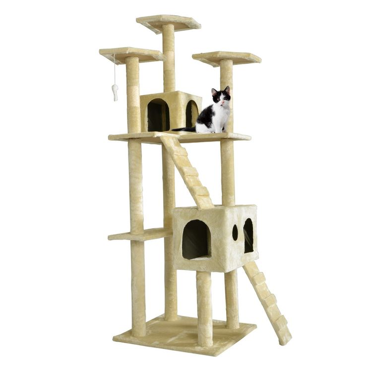 """New 73"""" Cat Tree Scratcher Play House Condo Furniture Toy Bed Post Pet House T07 #BestPet"""