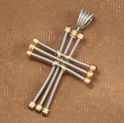 $52 guitar strings jewelry, hand made jewelry, cross jewelry, cross earrings