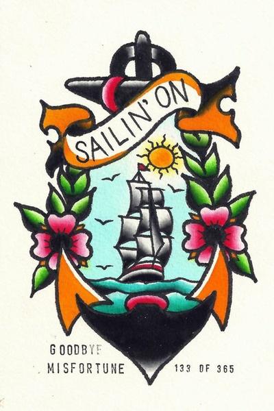Sailin' On Tattoo Flash | KYSA #ink #design #tattoo