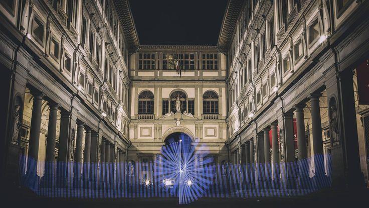 Greob - Light Painting - Light Art  - Uffizi, Firenze, Italy - 2016 #lightpainting #lightart #Italy #florence #uffizi #firenze