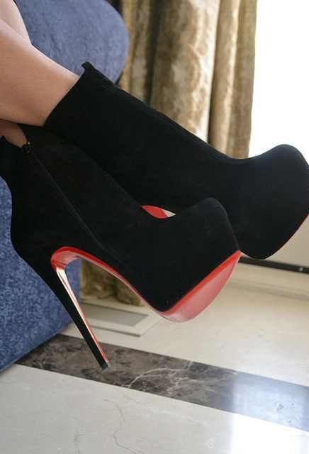 Christian Louboutin black boots