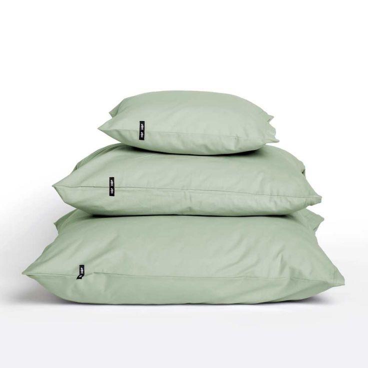 Zielone poszewki na poduszki HOP DESIGN - PURE - NieMaJakwDomu