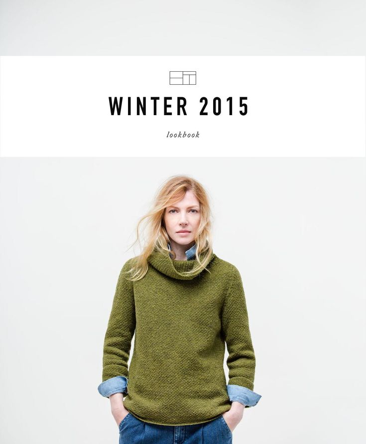 Lookbook featuring the Winter 2015 collection of knitwear from Brooklyn Tweed