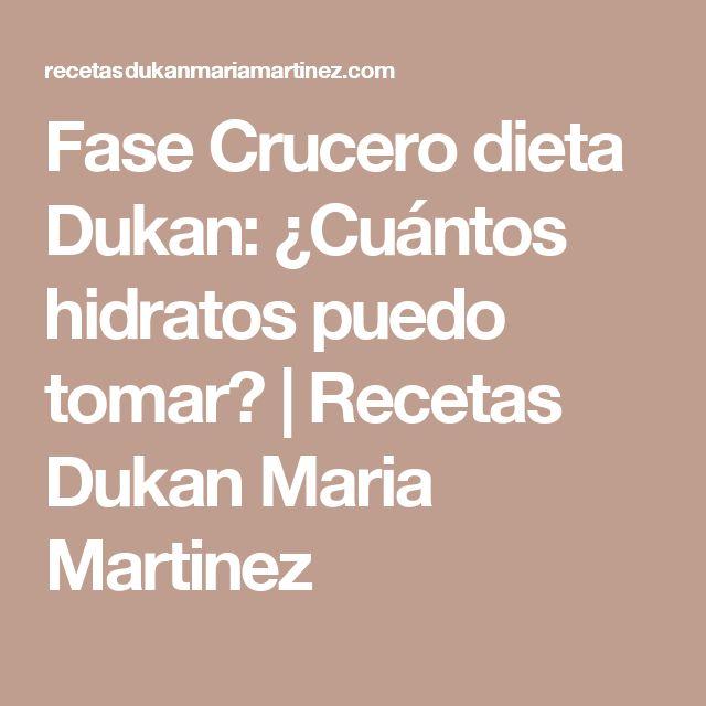 Fase Crucero dieta Dukan: ¿Cuántos hidratos puedo tomar? | Recetas Dukan Maria Martinez