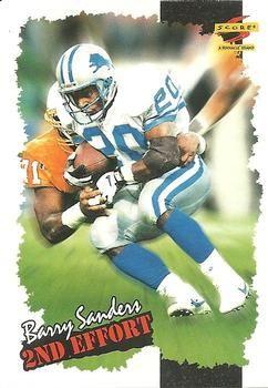 1996 Score #244 Barry Sanders - Detroit Lions.
