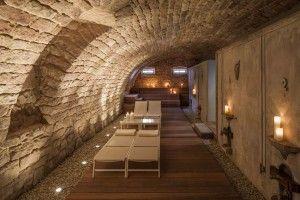 Sauna im Gewölbekeller