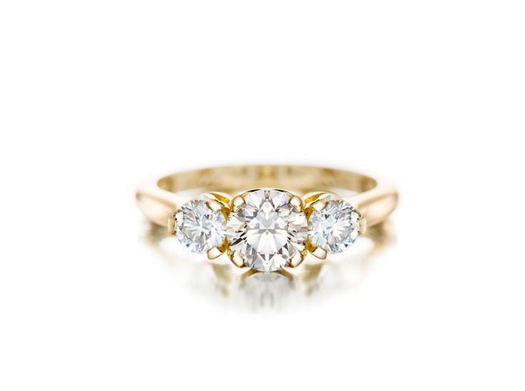 A Three Stone Diamond Ring