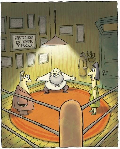 Terapia de pareja con un poco de humor.