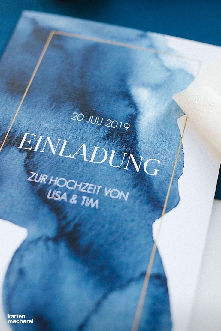 Hochzeitseinladung Modern Aquarelle In 2020 Hochzeitseinladung