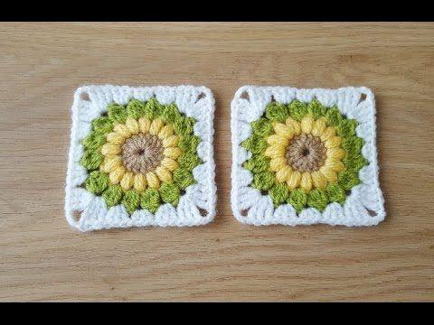 Tığ işi ayçiçeği motif yapılışı/Örgü modelleri - YouTube