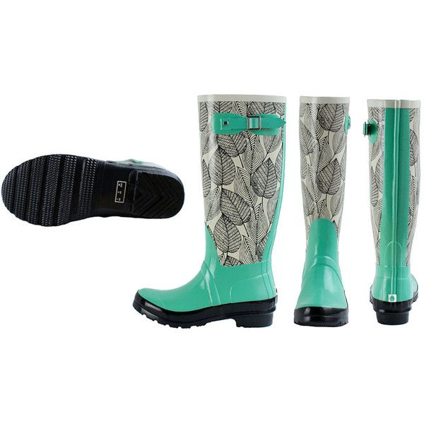 Women's Oaki Monumenta Women's Knee High Rain Boots 5 Medium Women's... ($26) ❤ liked on Polyvore featuring shoes, boots, boots & booties, green, green boots, green knee high boots, knee high boots, green shoes and wellies boots