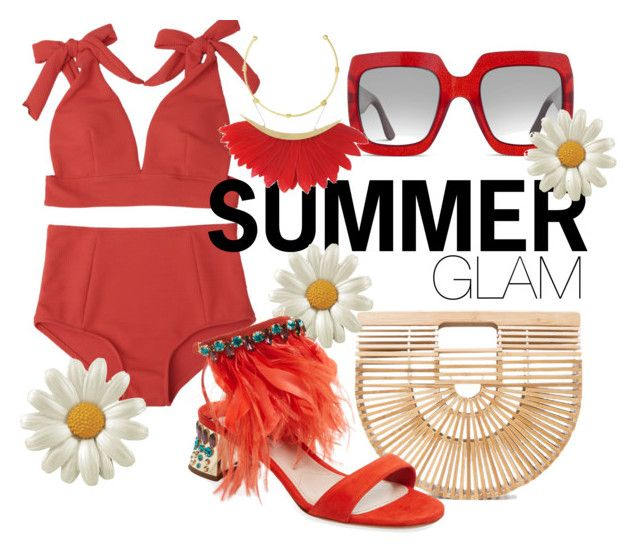 Summer Glamour by illetilmote on Polyvore featuring Miu Miu, Cult Gaia and Gucci