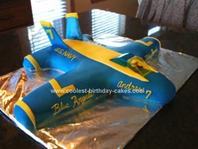 blue angel birthday cake