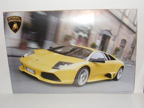 Lamborghini - Yellow Racing Photo - 36x24 Poster - http://aimcollectibles.blogspot.com/2011/07/poster-lamborghini-yellow-racing-36x24.html